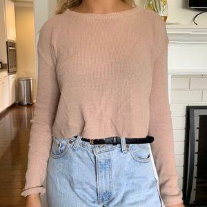 Brandy Melville light pink sweater